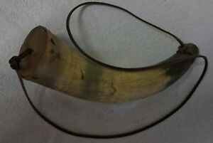 Antique Square Nailed Powder Horn