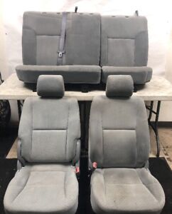 Oem 2005 2008 Toyota Tacoma Crew Cab Front Rear Seats Seat Gray Complete Set