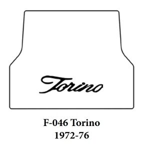1972 1976 Ford Torino Trunk Rubber Floor Mat Cover With F 046 Torino Script