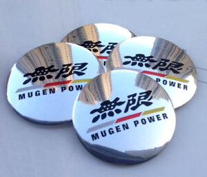 4x 56mm 2 2 Car Wheel Center Hub Cap Emblem Badge Decal For Mugen Glossy New