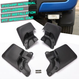 4pcs Front Rear Splash Guards Mud Flaps Fender Kit For 2016 2018 Toyota Tacoma