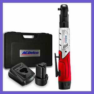 Acdelco Cordless 12v 3 8 Ratchet Wrench Tool Set With 2 Lithium ion Batteries