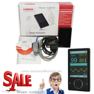 Contec Hand held Touch Pulse Oximeter Spo2 Monitor Blood Oxygen Pc Anlaysis Sw