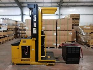 Yale Os030ecn24te095 Order Picker Fork Lift 24v 213 Max Lift Height