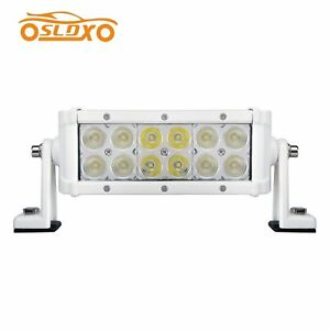36w 8inch White Led Light Bar Off Road Truck Jeep Boat Ford Driving Suv Atv 4x4