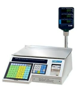 30 X 0 01 Lb Label Printing Scale With Pole Display Ntep Cas Lp1000np