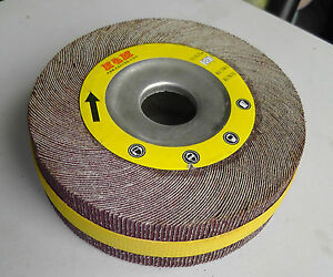10 Flap Sanding Wheel 6 inch X 2 X 1 A o 80 Grit Unmounted Wholesale