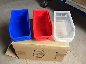 Stacking Plastic Small Parts Storage Bins