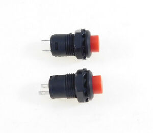 2 Pack Spst Latching Off on Push Button Switch Red Latch32731rd
