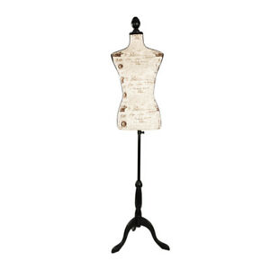 Female Mannequin Torso Dress Clothing Display Tripod Stand Black Letters