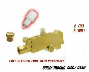 Chevy Gmc Truck Proportioning Valve Disc Drum