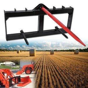 49 Tractor Hay Spear Attachment 3000lb Capacity Skid Steer Loader Quick Tach