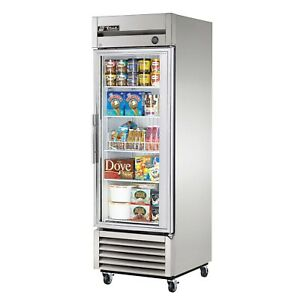True T 23fg ld Commercial Reach in Glass Swing Door Freezer