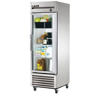 True T 23g hc Commercial Reach in Glass Swing Door Refrigerator
