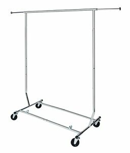 Commercial Grade Collapsible Clothing Rack Folds Down To 5 Inches High
