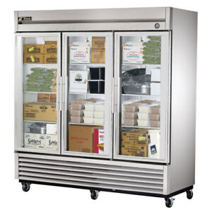 True T 72fg ld Commercial Reach in Glass Swing Door Freezer