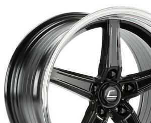 Cosmis Racing R5 18x9 5 25 18x10 5 22 5x120 Black Machined Staggered set Of 4