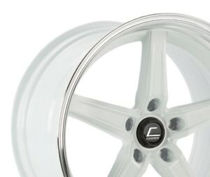 Cosmis Racing R5 Flow Formed 18x10 5 22 5x120 White W Machined Lip set Of 4