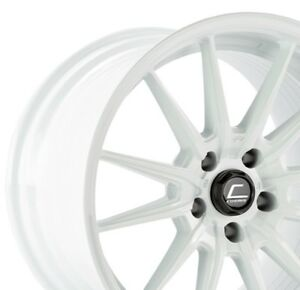 Cosmis Racing R1 Pro Flow Formed 18x12 24 5x114 3 White Pair 2 Wheels Only