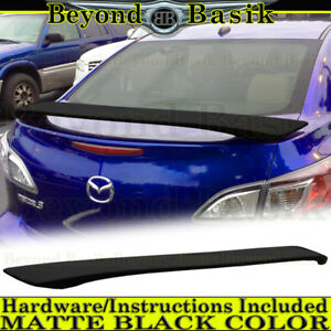 2010 2011 2012 2013 Mazda 3 4dr 2 Post Matte Black Factory Style Spoiler Wing