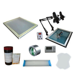 Screen Printing Plate Making Kit Exposure Screen Frame coater Plate Making Tool