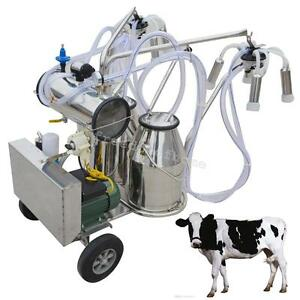 Doubletank Milker Wheels Electric Vacuum Pump Milking Machine Milking Unit A