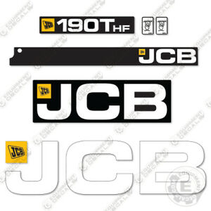 Jcb 190t Hf Decals Skid Steer Replacement Decals 190thf 190 thf