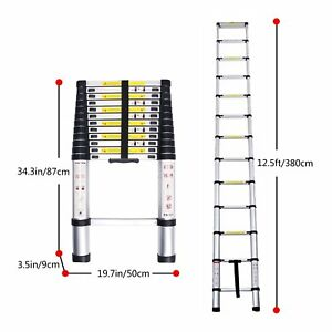 Lifewit 12 5ft En131 Telescoping Ladder Aluminum Telescopic Extension Multi
