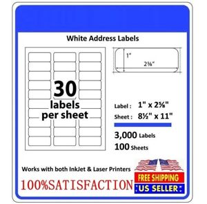 Address Labels Amazon Fba Labels Laser Adhesive Labels 30 Per Sheet 1 X 2 5 8