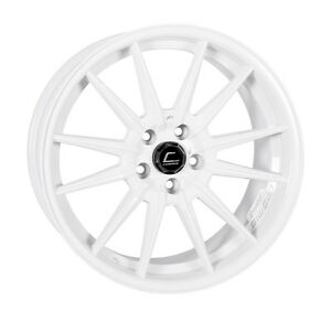 Cosmis Racing R1 19x8 5 19x9 5 35 5x120 White Staggered set Of 4