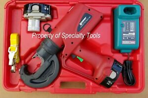 Burndy Pat750xt Hydraulic Battery Rubber Covered Crimper Patriot Crimping Tool