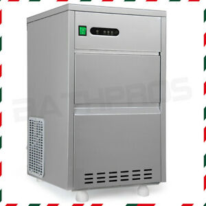 Free Standing Stainless Steel Cabinet Auto Ice Maker Machine Bullet Shaped Cubes