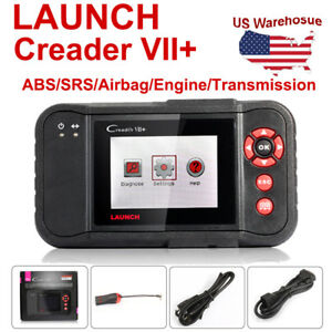 Lifetime Free Updates Launch Creader Vii Obd2 Diagnostic Tool Abs Srs As Crp123