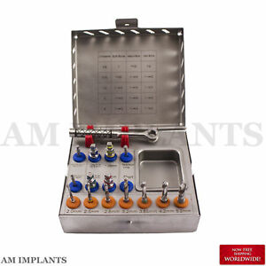 Dental Implant Surgical Instruments Drill Kit Drills Drivers Ratchet Brand New