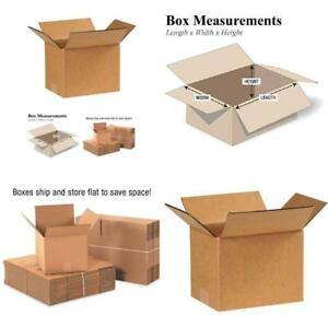 25 Shipping Boxes Cardboard Box Mailing Storage Small Packing Boxes Kraft 8x6x6