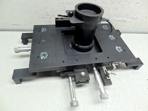 Optical Laboratory X Y 16 X 10 Stage Assembly W 3 Mitutoyo Micrometer s