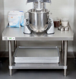 24 X 36 Stainless Steel Table Commercial Heavy Equipment Mixer Grill Stand