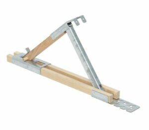 Qualcraft 2510 Adjustable Wood steel Roof Bracket 12 inch