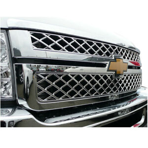 Chrome Grille Overlay 2500 3500 For 2011 2014 Chevy Silverado Hd