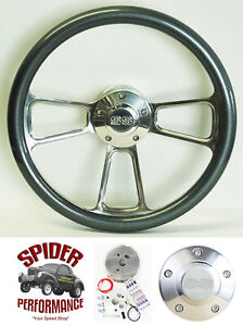 1967 Camaro Steering Wheel Ss 14 Carbon Fiber Polished Billet