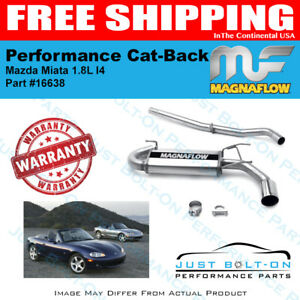 Magnaflow Street Series Ss Cat back For 2004 2005 Mazda Miata 1 8l L4 16638