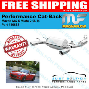 Magnaflow Street Cat back Exhaust For 2006 2014 Mx 5 Miata 16668