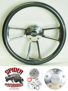 1969 1994 Camaro Steering Wheel Ss 14 Carbon Fiber Polished Billet