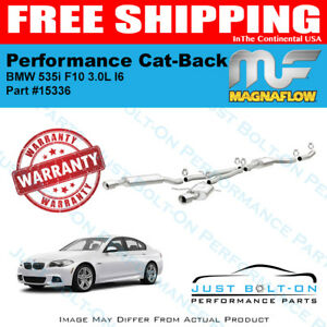 Magnaflow Touring Ss Cat back For 2011 2016 Bmw 535i Xdrive F10 3 0l L6 15336