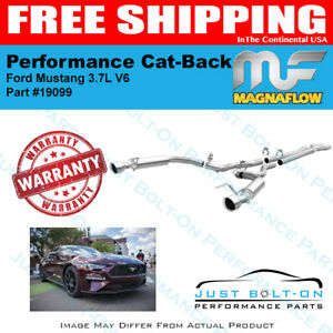 Magnaflow Competition Series Ss Cat back For 2015 2017 Mustang 3 7l V6 19099