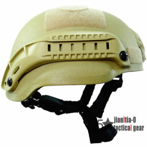 Tactical MICH 2002 Simplified  Helmet for Airsoft Tactical Shroud Side Rail