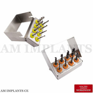 Dental Implant Surgery Tools Drill Black Titanium Coated Polished Set Of 2