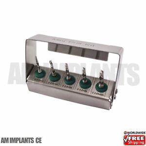 Dental Implant Polish Drills Bur Holder Kit External Irrigation Set Of 5