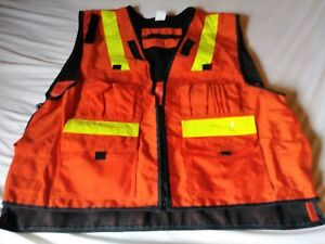 Cordura 1000d High Viz Vest With Multiple Front Pockets And Tablet Pouch