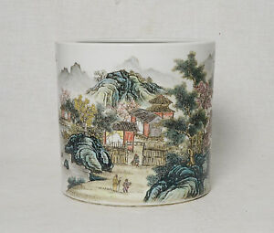 Chinese Famille Rose Porcelain Brush Washer With Studio Mark M2668
